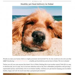 Healthy Pet Food Delivery in Dubai