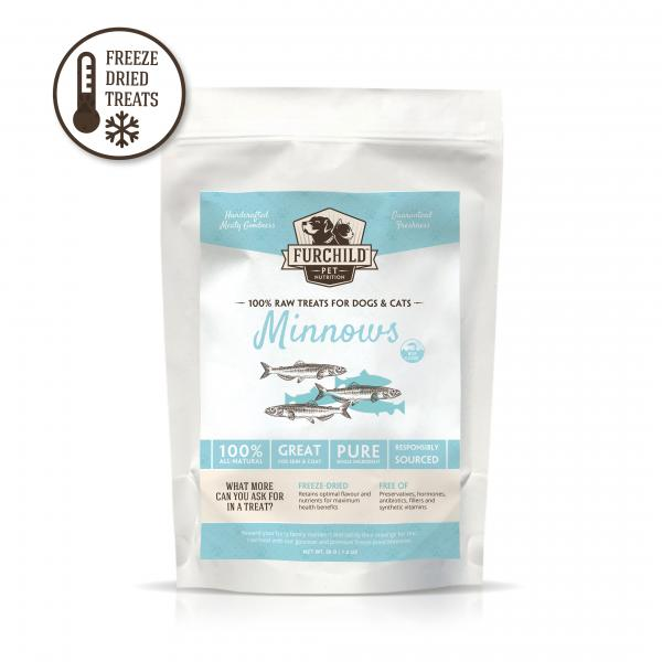Premium Freeze-Dried Wild-Caught Minnows Raw Pet Treats