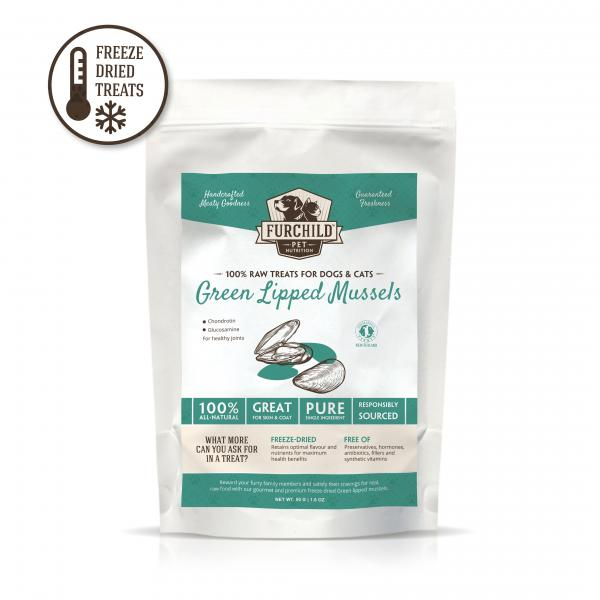 Premium Freeze-Dried Green Lipped Mussels  - Functional Raw Pet Treats - NEW!