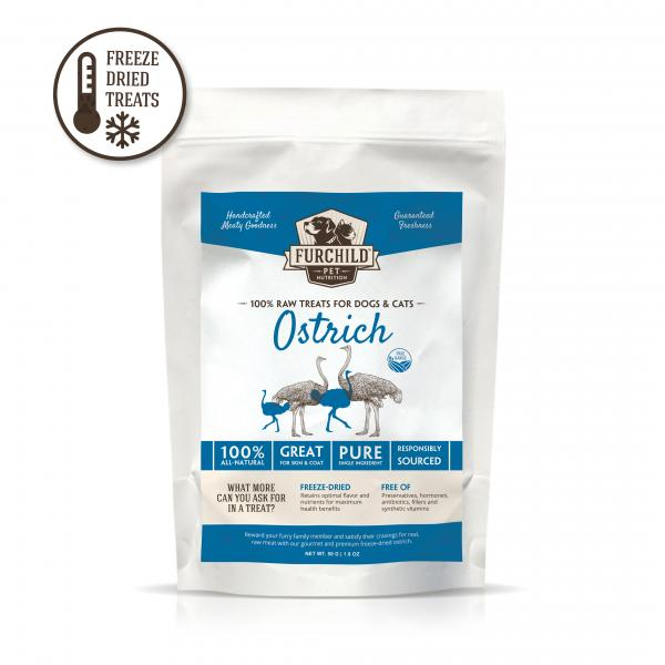 Premium Freeze-Dried Free-Range Ostrich Treats