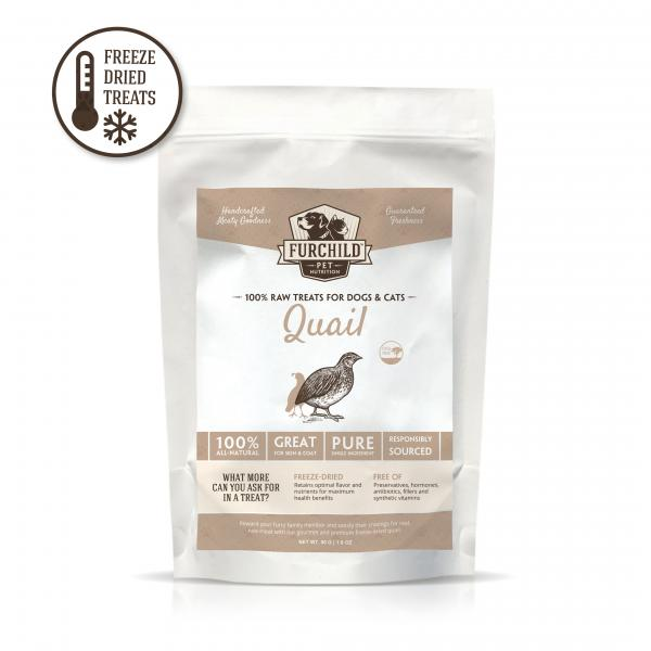 Premium Freeze-Dried Quail Breast Raw Pet Treats