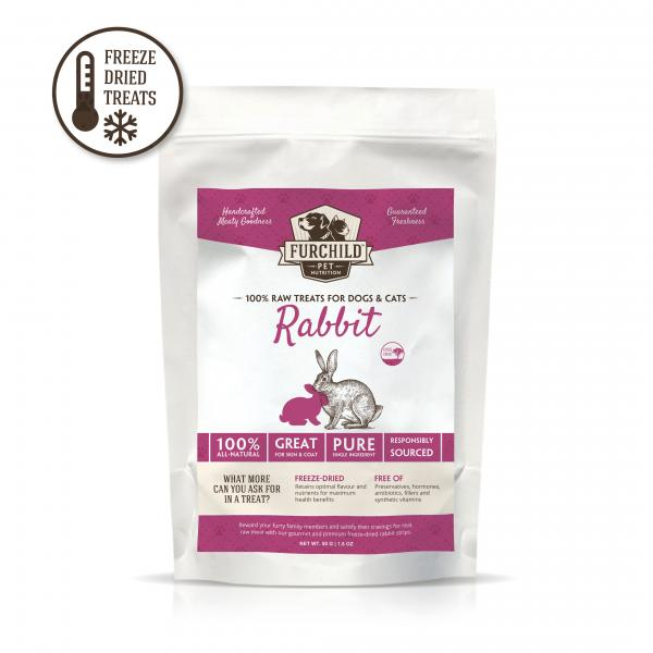 Premium Freeze-Dried Cage-Free Rabbit Raw Pet Treats
