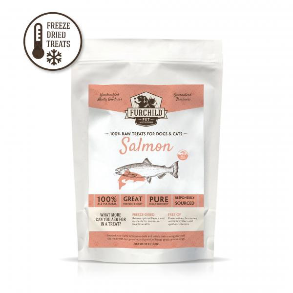 Premium Freeze-Dried Wild-Caught Salmon Raw Pet Treats