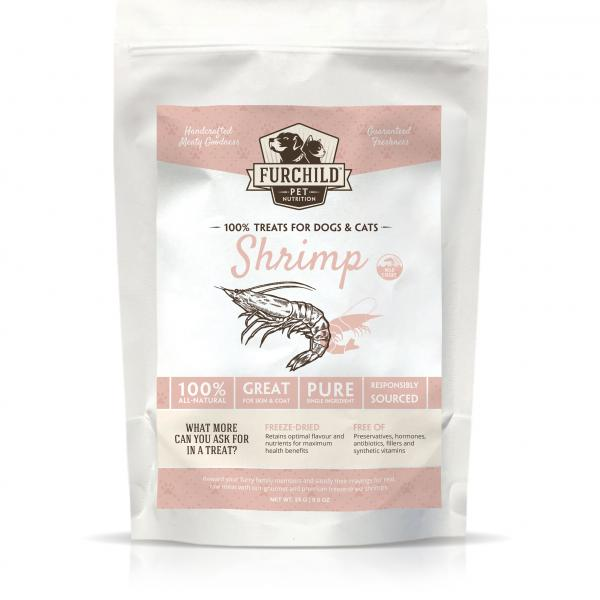 Premium Freeze-dried Wild-caught Shrimp Treats