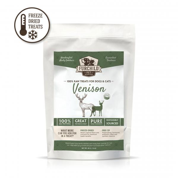 Premium Freeze-Dried Free-Range Venison Raw Pet Treats
